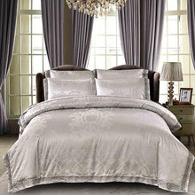 Load image into Gallery viewer, 4Pcs  Silk Cotton Satin Luxury Bedding Set