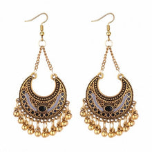 Load image into Gallery viewer, TRACYKWOK Bohemia Exaggeration Dangle Earrings For Women Silk Thread Tassel Metal Long Chandelier Earrings Fo-131302