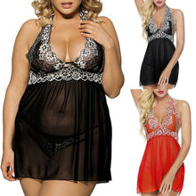 Load image into Gallery viewer, 2PCS Sexy Plus Size Lingerie M - 5XL