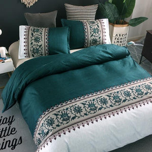 3 Piece Duvet Cover Set With Pillowcase (Without Bedsheet)