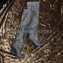 Load image into Gallery viewer, Bling High Heel Mid Calf Amazing Boots 11 Colors Available