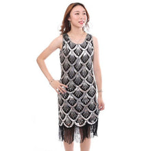 Load image into Gallery viewer, 1920s Gatsby Flapper Sequin Fringe Dress