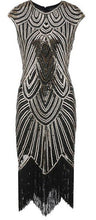 Load image into Gallery viewer, 1920s Gatsby Flapper Dresses with Tassels 6 Colors Available S - XL