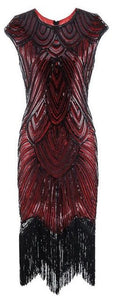1920s Gatsby Flapper Dresses with Tassels 6 Colors Available S - XL