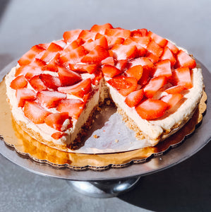 Raw Strawberry Tart by Anna Marshall from FoodMarshall