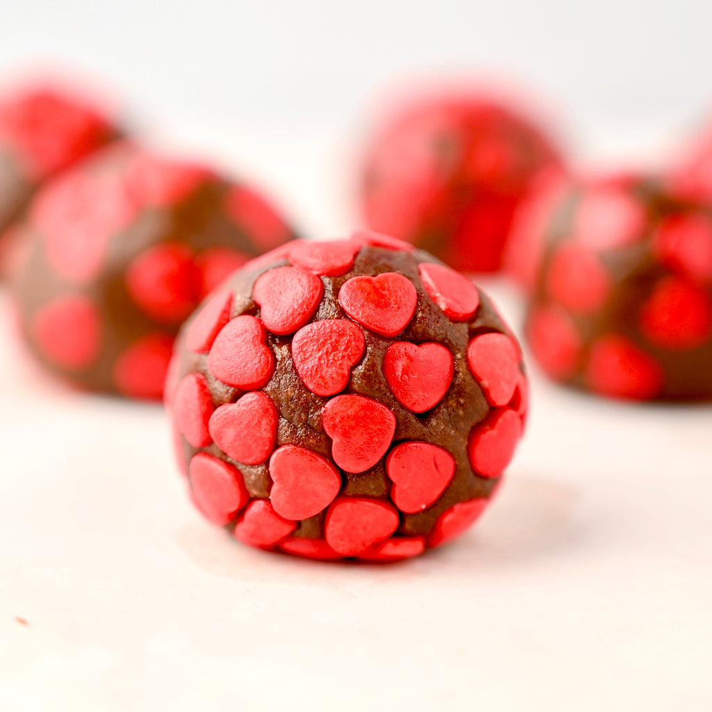 Valentine's Nut Butter Chocolate Truffles