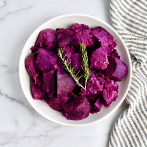 Steamed Purple Sweet Potatoes