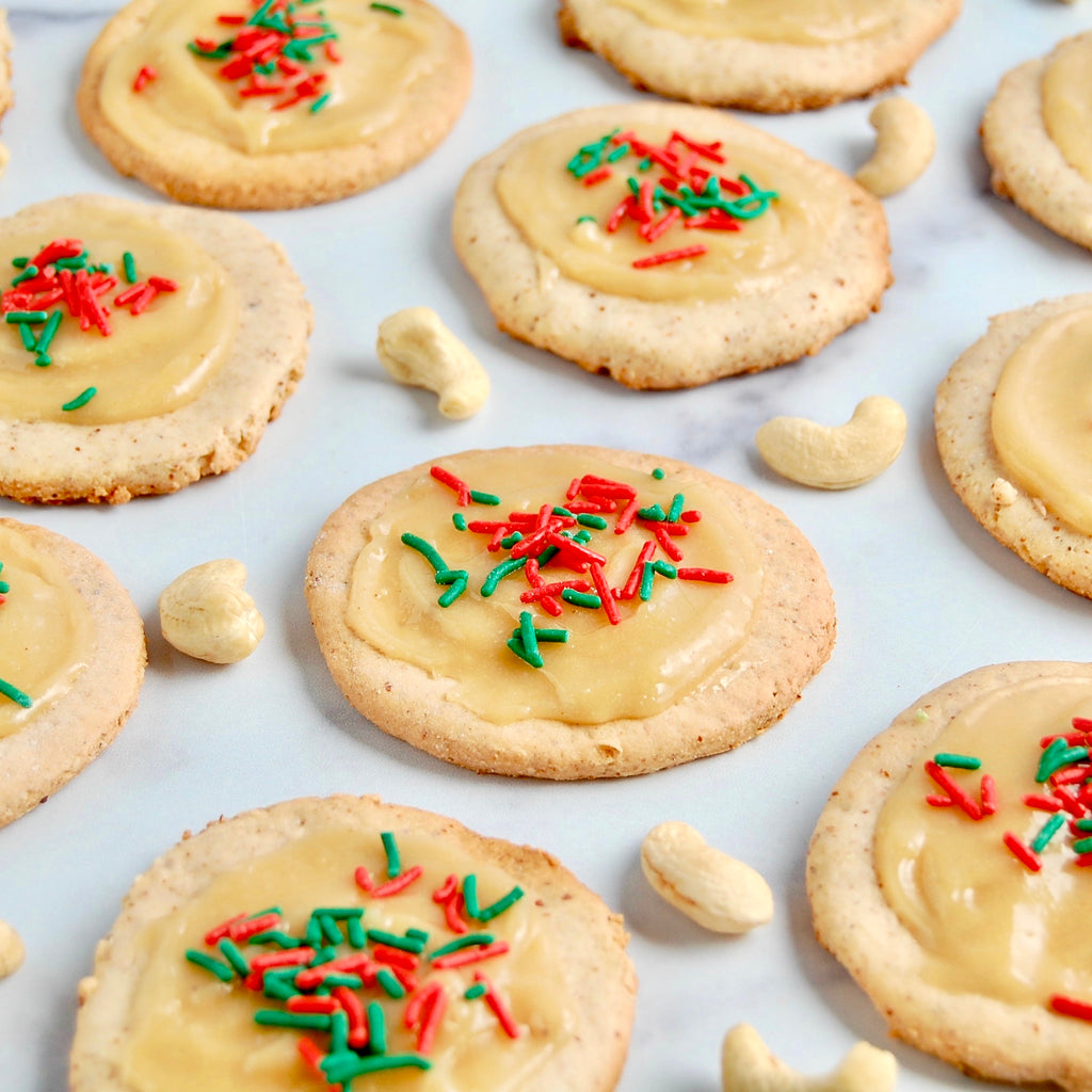 Gluten Free Cookies with Cashew Butter Icing