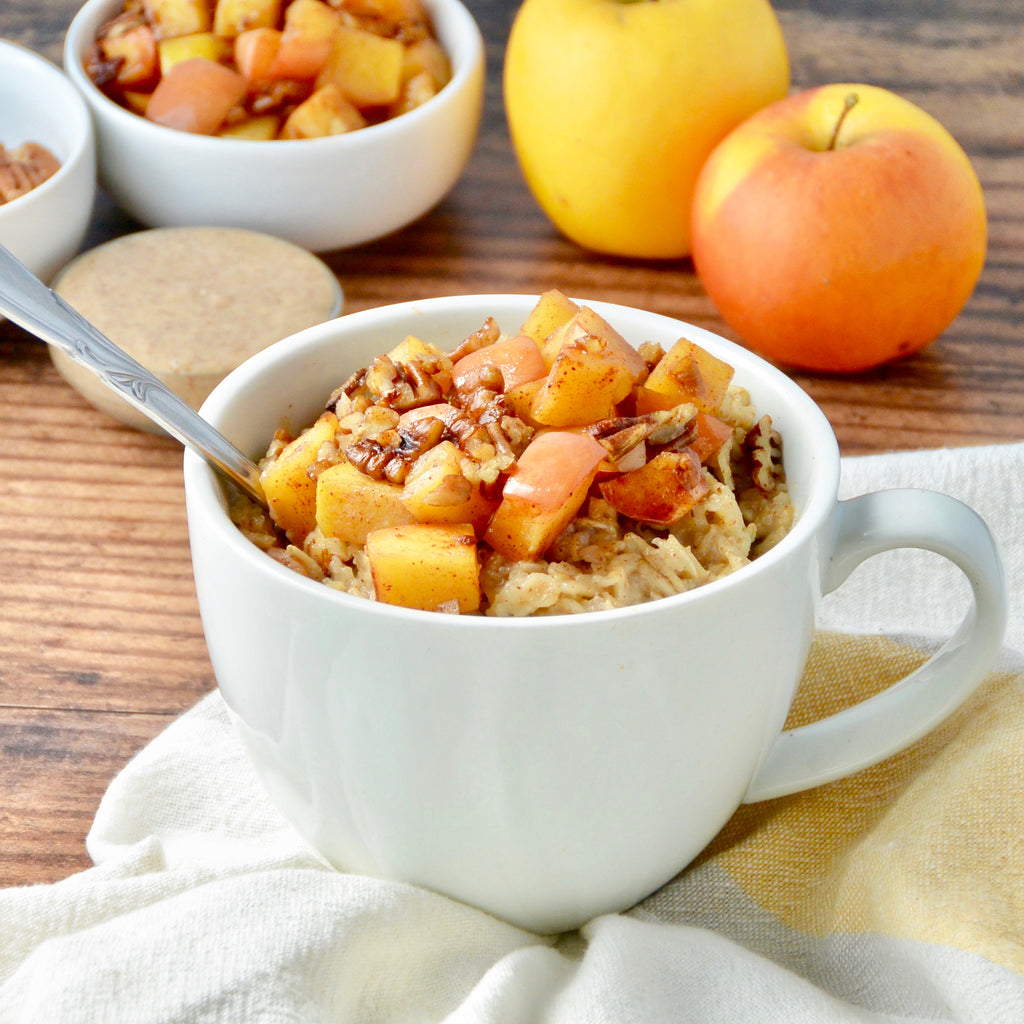 Almond Oatmeal with Sautéed Apples