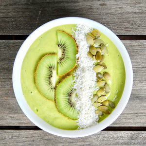 Green Smoothie Bowl with Creamy Pumpkin Seed Milk