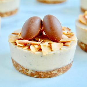 Mini Easter Vegan Cheesecakes