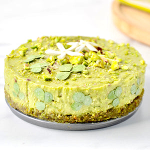 Raw Pistachio & Avocado Cake