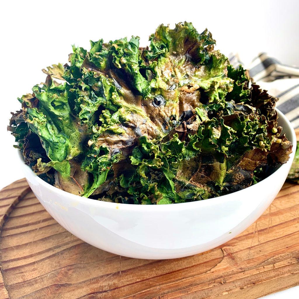 Spicy Almond Butter Kale Chips