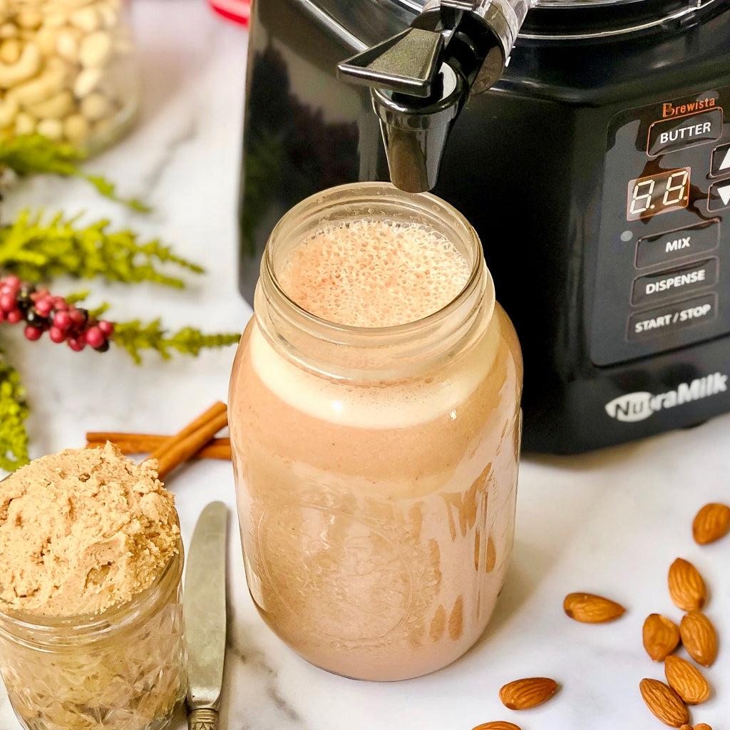 Vanilla Snickerdoodle Cashew Butter & Peppermint Chocolate Almond Milk