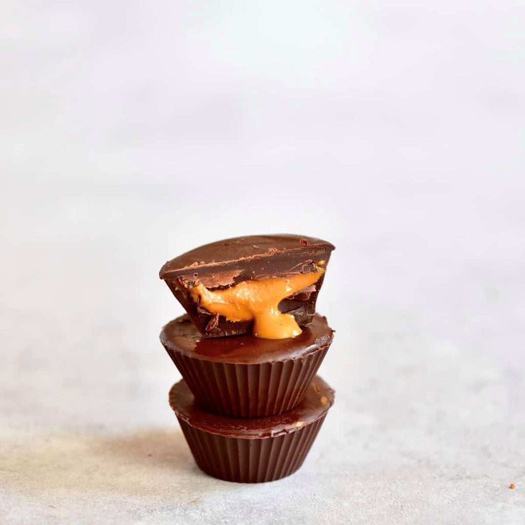 5 Ingredient Healthier Vegan Chocolate Peanut Butter Cups by Alphafoodie