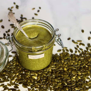 Homemade Roasted Pumpkin Seed Butter by Alphafoodie