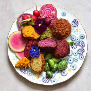 Easy Rainbow Vegan Falafels 5-ways by Alphafoodie