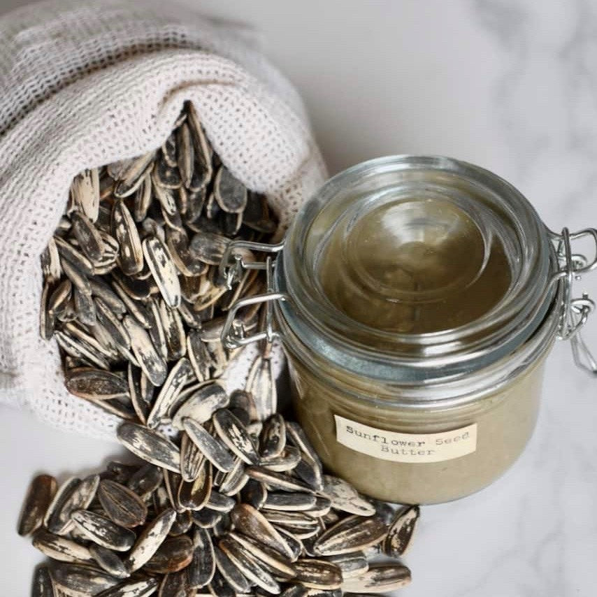 Homemade Roasted Sunflower Seed Butter by Alphafoodie