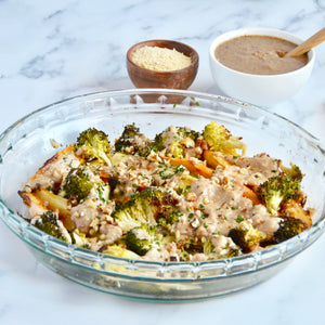 Roasted Veggies with Creamy Pecan Sauce