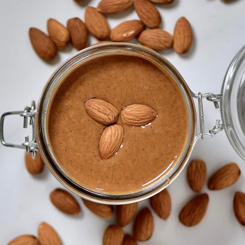 Simple Two-Ingredient Homemade Almond Butter by Alphafoodie