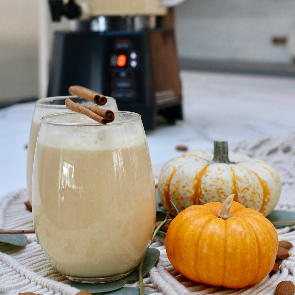 Making Pumpkin Almond Milk