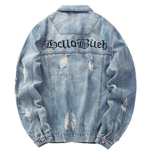 HelloB Ripped Vintage Denim Jacket - HYPE on HYPE