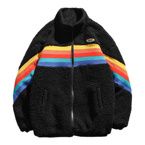 Rainbow Fleece Jacket - HYPE on HYPE