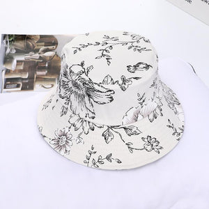 Fiz Floral Print Beach Sun Hat - HYPE on HYPE