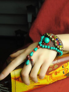 Handmade Turquoise Wax String Bracelet Accessories -