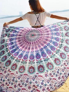 Romantic Summer Rectangle Shawl Beach Mat Yoga Mat COCORFUL