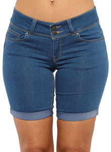 Denim Bermuda Shorts Blue S