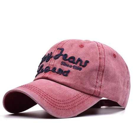 Casual Letter Embroidered Cap