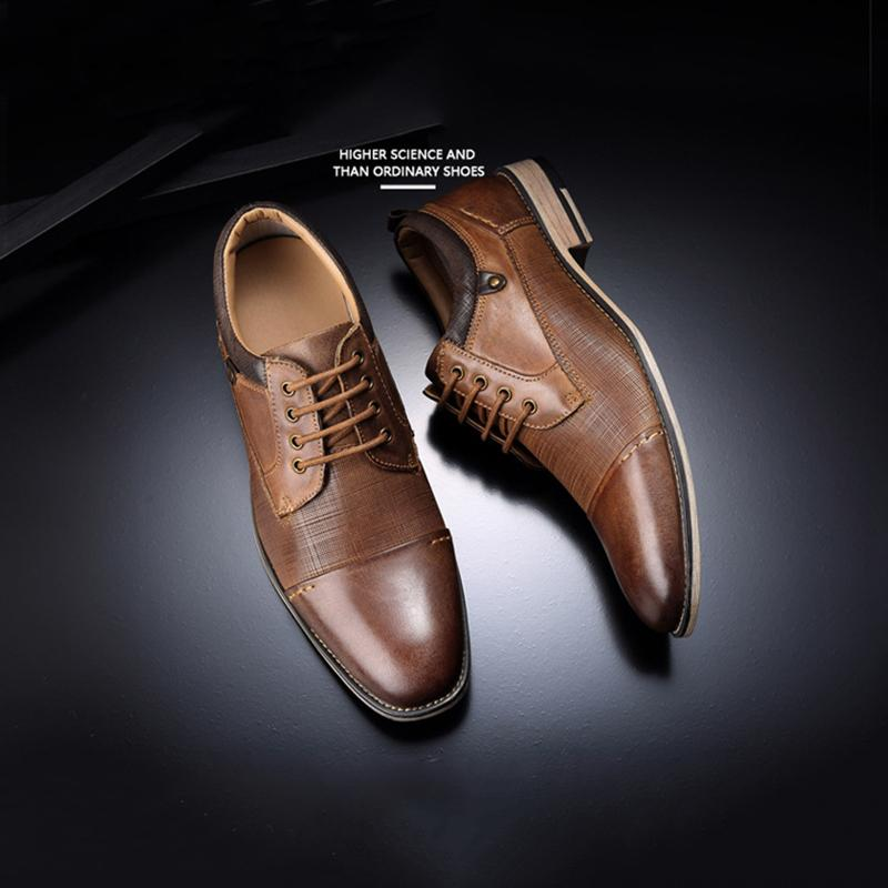 Men's Lace-Up Embossed Business Shoes
