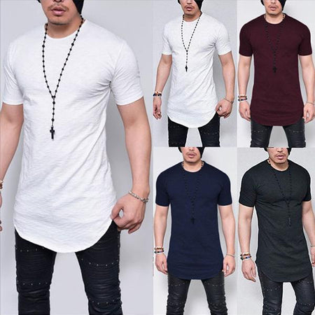 Mens Pure Color Short Sleeve O-Neck T-Shirts