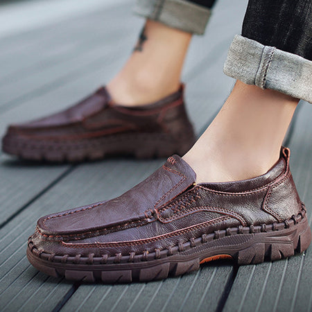 Men's Casual Fashion Leather Comfortable Slip-On Shoes