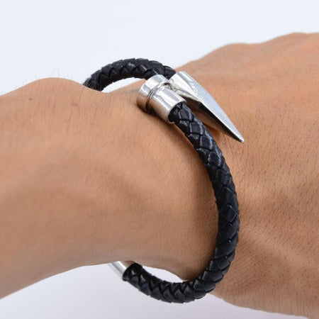Men Weaving Stainless Steel Bracelets