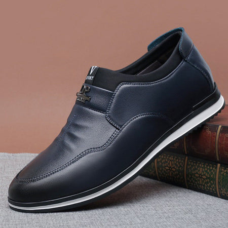 Men Casual Pure Color Comfy Soft Sole Slip On Shoes