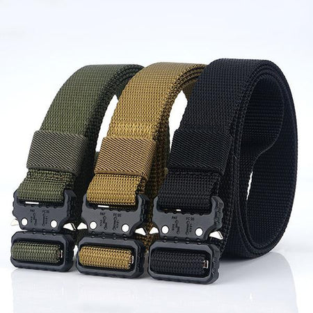 Mens Solid Color Nylon Buckle Waist Belts