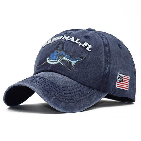Casual Embroidered Shark Baseball Cap