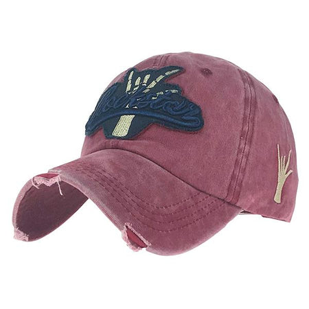 Washed Cotton Baseball Embroidery Cap