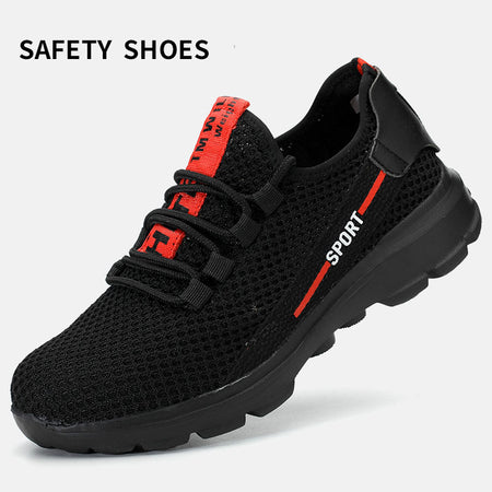 Men Steel Toe Anti-smashing Construction protection Work Sneakers