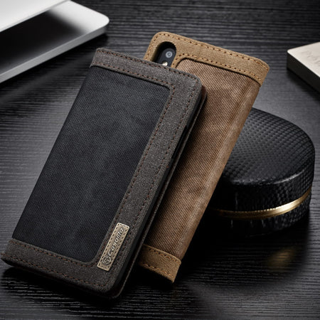 CaseMe-006 Denim Canvas Cell Phone Cover For Samsung