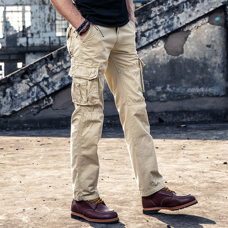 Large Size Pure Cotton Outdoor Multi Pocket Pants