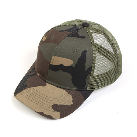 Men Camouflage Hollow Caps