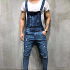Popular Men's Denim Strap Trousers Short Pants