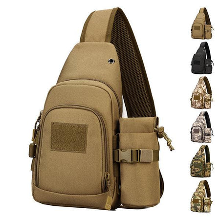 Mens Camouflage Chest Bag Travel Multi-function Riding Bag