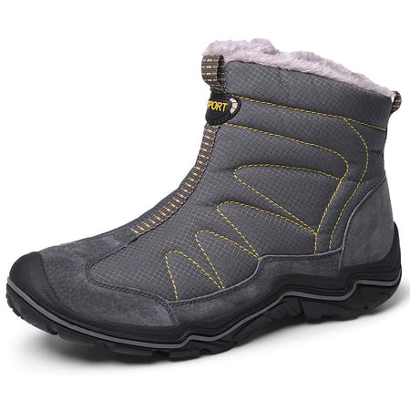 Men's Large Size Sip-on Plush Lining Warm Snow Boots Outdoor Climbing Ankle Boots