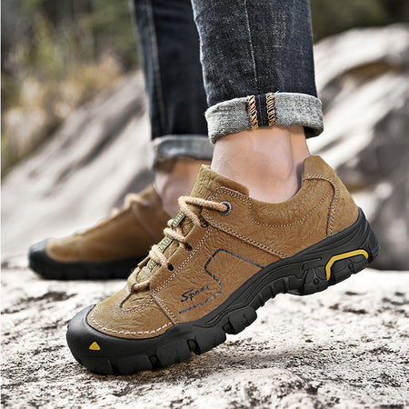 Men Leather Non-slip Wearable Outdoor Shoes