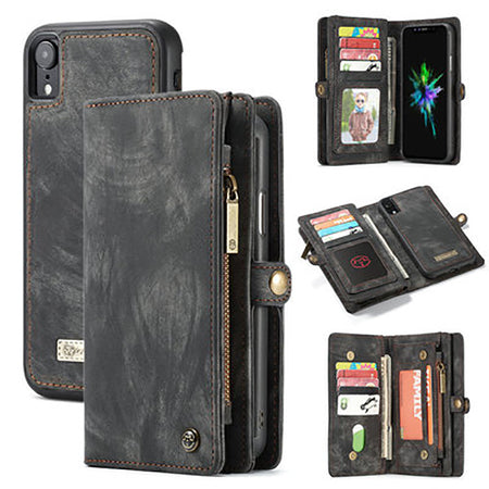 CaseMe-008 Two-in-one Wallet For iPhone Vintage Phone Case