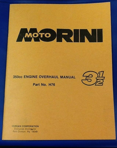 Moto Morini 350 Engine Overhaul Manual - ABOOK-J H76